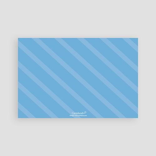 Faire-Part Naissance Garçon - Bleu zébré 1199 thumb