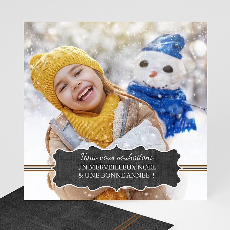 Carte de Voeux Merveilleux Noël et Bonne Année Souhaits
