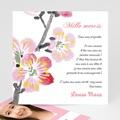 Carte Remerciement Communion Fille Floraison de l'Esprit