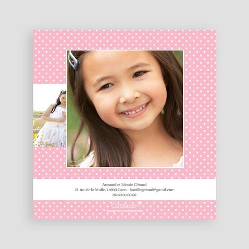 Carte Remerciement Communion Fille Floraison de l'Esprit pas cher
