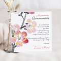 Faire-part Communion Fille - Floraison de l'Esprit 12568 thumb