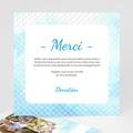 Carte Remerciement Communion Garçon Effet d'eau Bénite