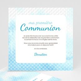 Faire-Part Communion Effet d'eau Bénite