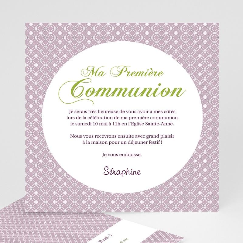 Faire-part Communion Fille - Action de Grâce 12604 thumb