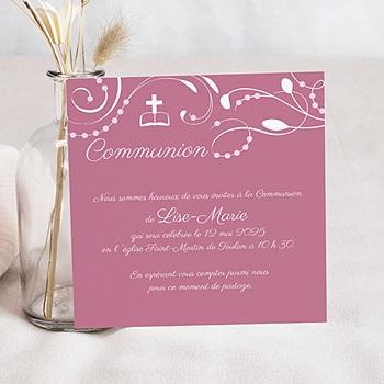 Achat faire-part communion fille bénédictine