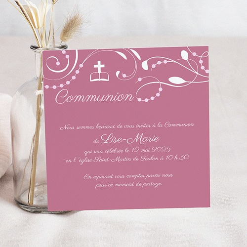 carte invitation communion fille. Black Bedroom Furniture Sets. Home Design Ideas