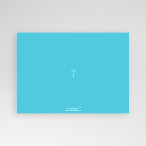 Faire-part Communion Garçon - Croix Contemporaine Bleue 12734 preview