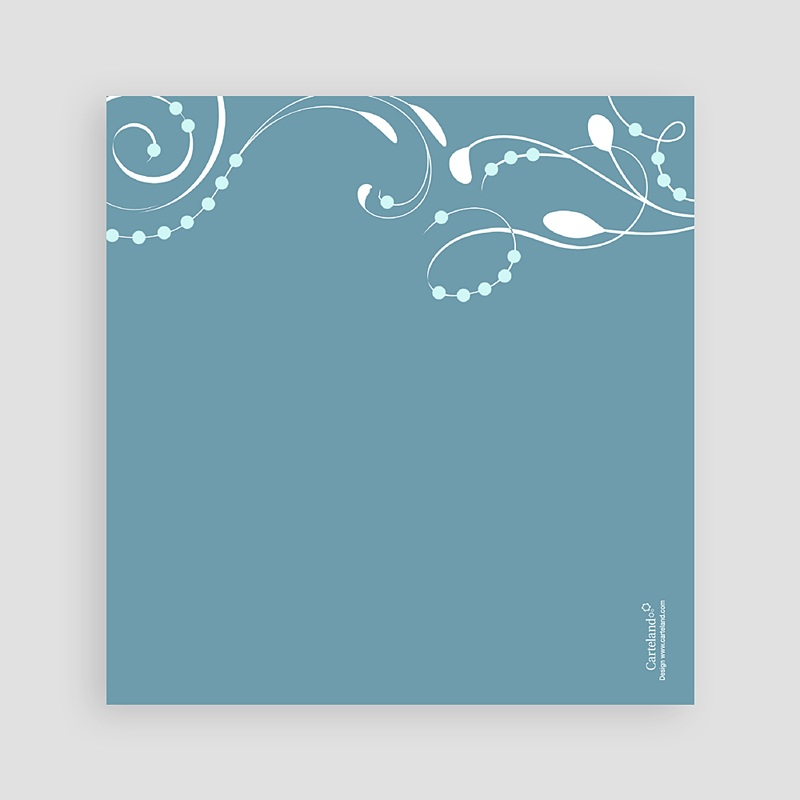 Faire-Part Communion Fille Sanctus Bleu pas cher