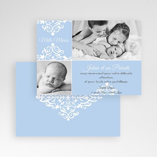 Carte Remerciement Naissance Garçon Design Royal - Merci pas cher