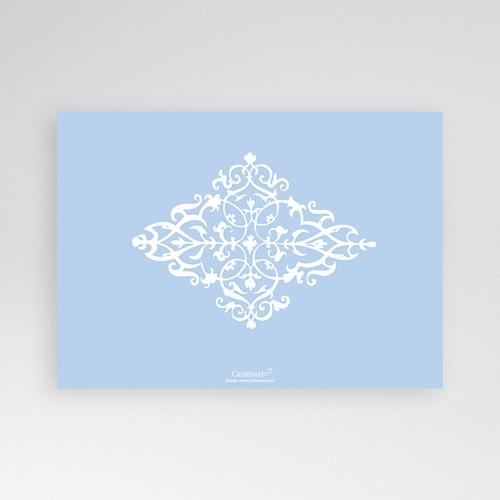 Faire-Part Naissance Garçon Design Royal - bleu pas cher