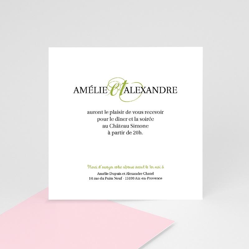 Carton Invitation Personnalisé Mariage Printanier