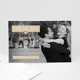 Save the date Mariage Graphic Chic