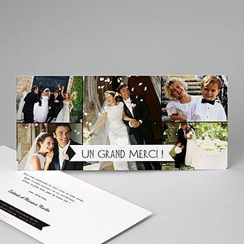 Remerciements mariage personnalisés graphic chic personnalisé