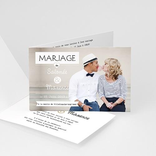 Faire-Part Mariage Personnalisés - Photo Chic 12867