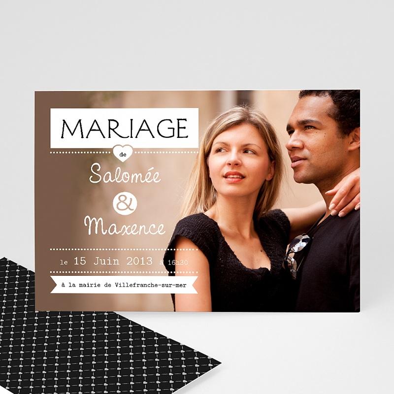 Faire-part mariage Noir et chic