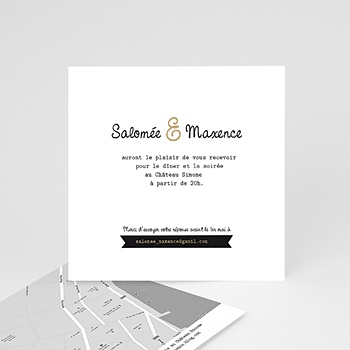 Carton Invitation Personnalisé - Graphic Chic - 2