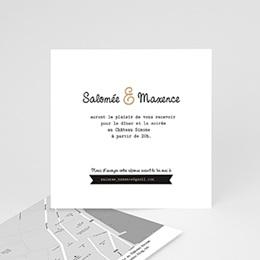 Carton Invitation Personnalisé Graphic Chic