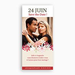 Save the date mariage Duo de Fleurs des Champs