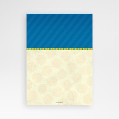 Carte invitation anniversaire garçon 4 ans Bleu Jaune pas cher