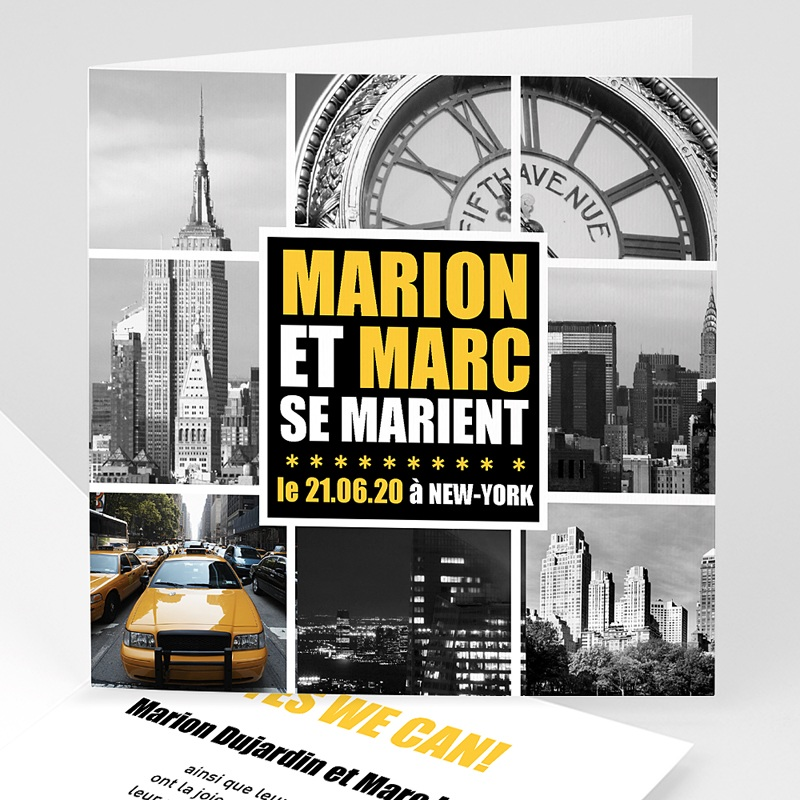 Faire-part mariage voyage New York City