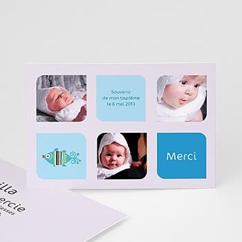 Remerciements Baptême Garçon - Multi-photos - 3