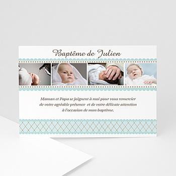 Remerciements Baptême Garçon - Baptême Rétro - Garçon - 3