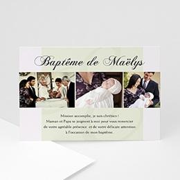 Remerciements Baptême Trois Photos Maelys