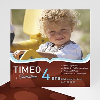 Carte invitation anniversaire garçon 4 ans