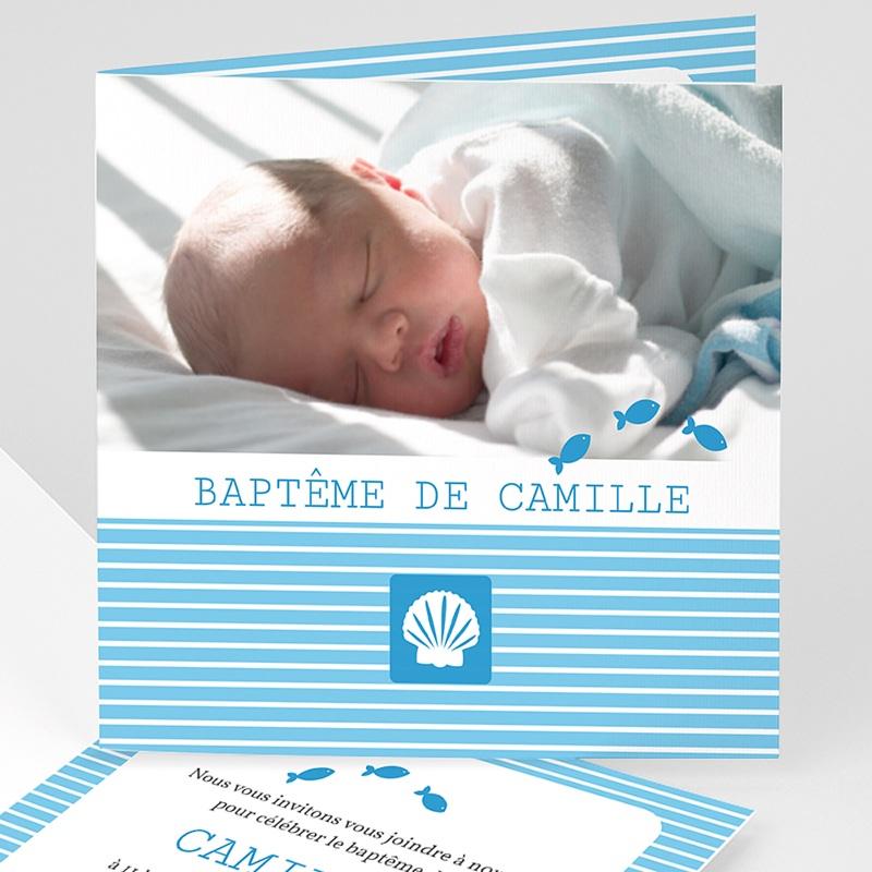 Faire-Part Baptême Garçon Marin