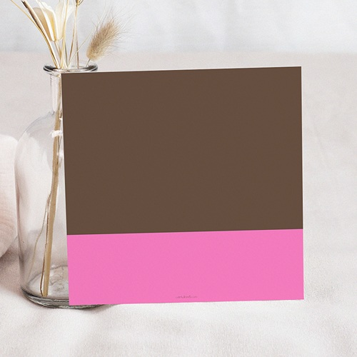 Carte invitation anniversaire fille Trois ans- Three - Drei - rose pas cher