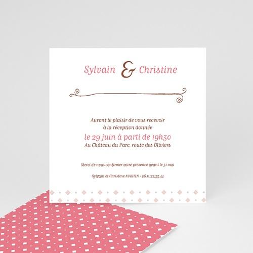 Carton Invitation Personnalisé vintage cottage