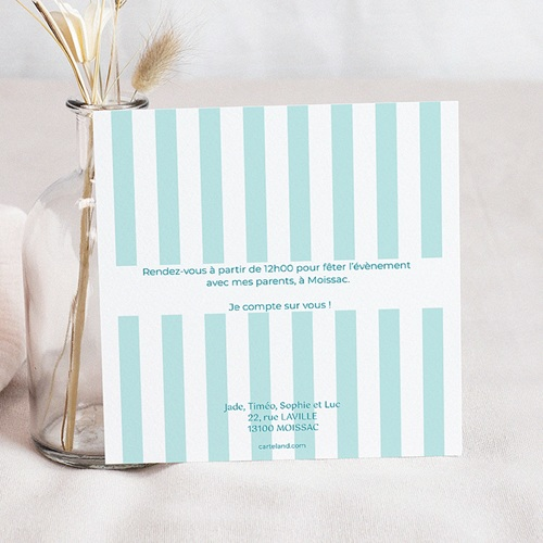 Carte invitation anniversaire garçon 1 an gâteau pas cher