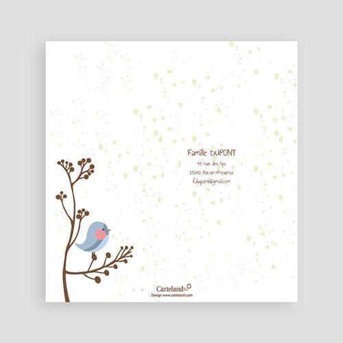Remerciements Naissance Garçon - Piou piou - Bleu 14246 thumb