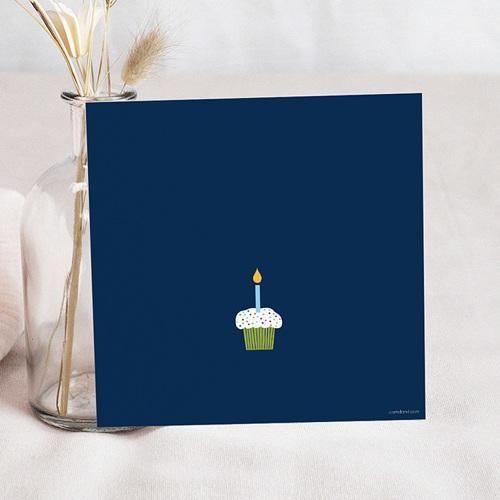Carte invitation anniversaire garçon Deux Ans avec photo pas cher