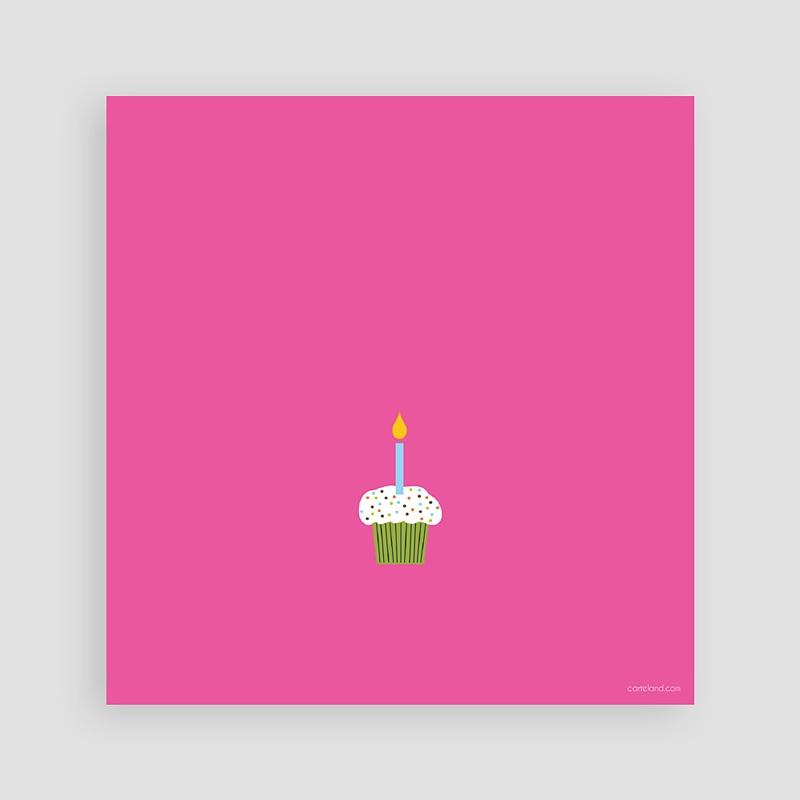 Carte invitation anniversaire fille Compte jusqu'à 2 pas cher