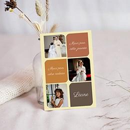 Carte remerciement communion fille Léanne