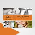 Carte Invitation Anniversaire Adulte Mine Orange