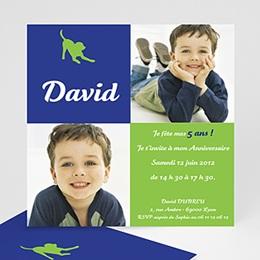 Invitations Anniversaire enfant Chien