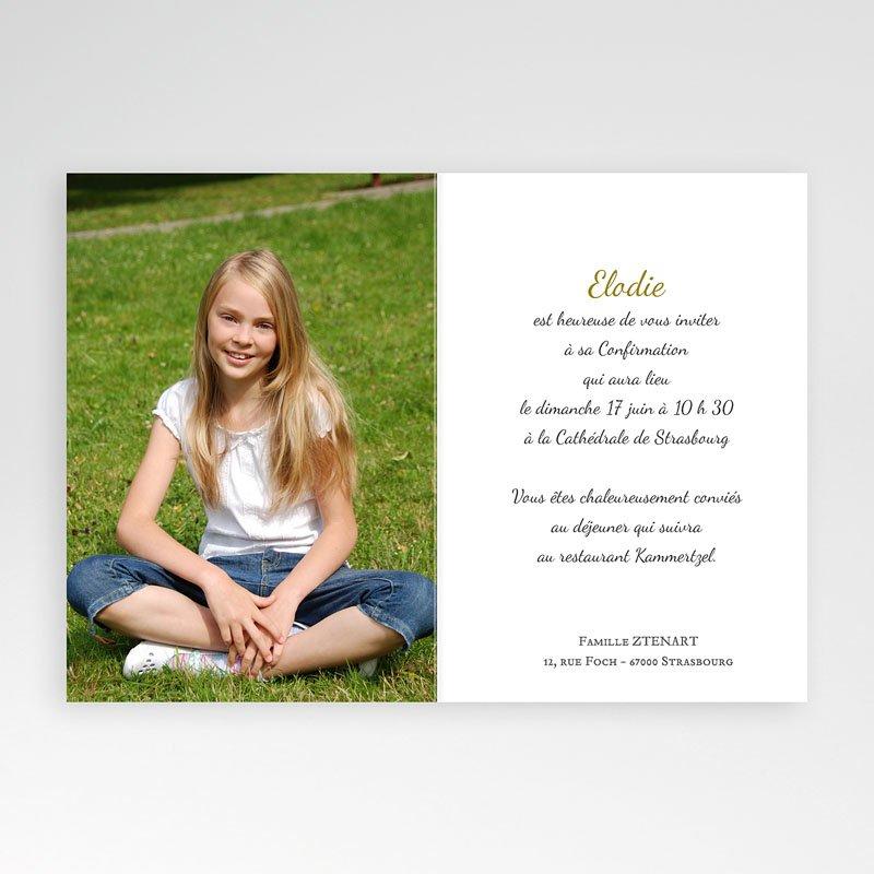Carte Invitation Confirmation Profession de Foi  pas cher