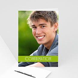 Carte invitation confirmation Communion Garçon