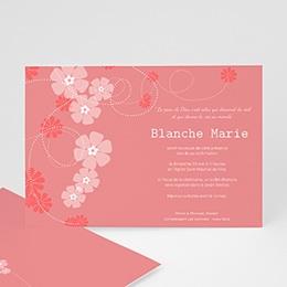Carte invitation confirmation Chapelet de fleurs