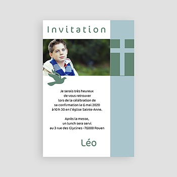 Carte invitation confirmation Date sacrée