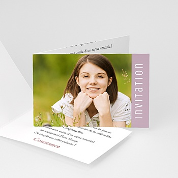 Carte invitation confirmation Dragées - Fille, garçon ou jumeaux