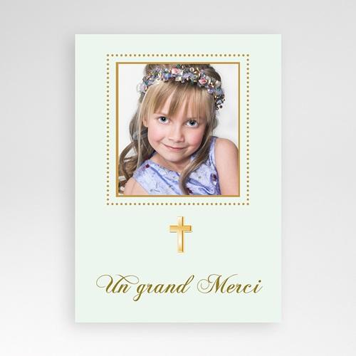 Remerciements Communion Fille - Merci Classique - Vert pâle 1466