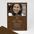 Invitation Confirmation  - Baptismal Marron 14668 thumb