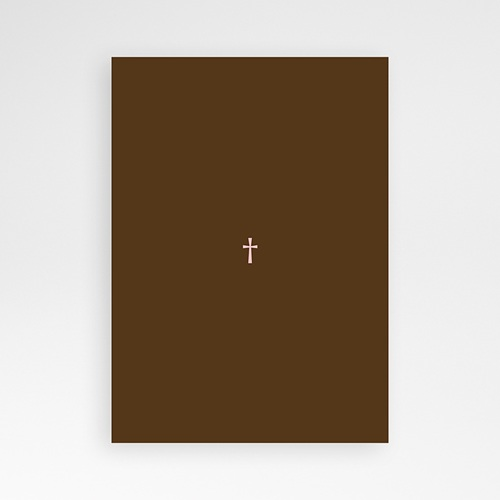 Invitation Confirmation  - Baptismal Marron 14669 thumb
