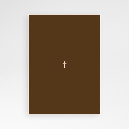 Carte Invitation Confirmation Baptismal Marron pas cher
