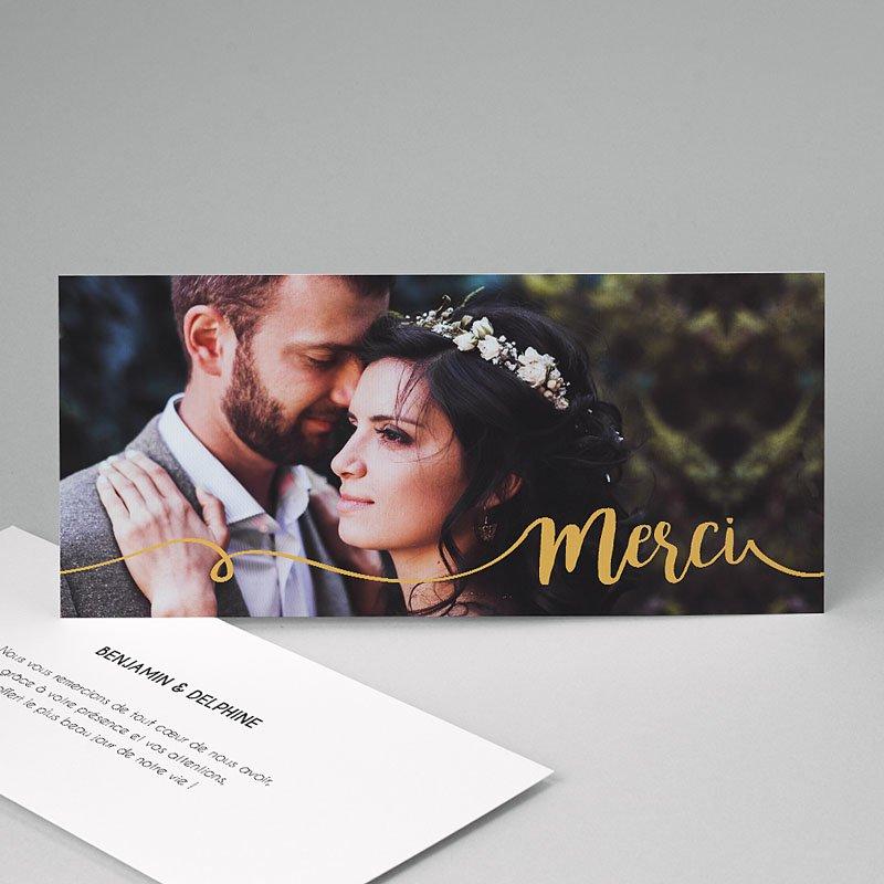 Carte Remerciement Mariage Gris d'Amour