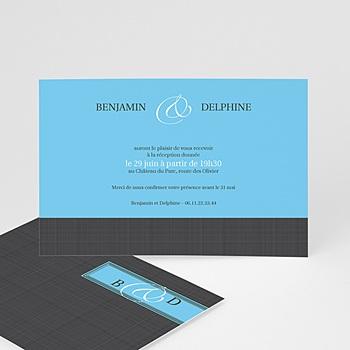 Carton invitation gris d'amour personnalisable
