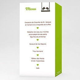Menu Bal d'Amour